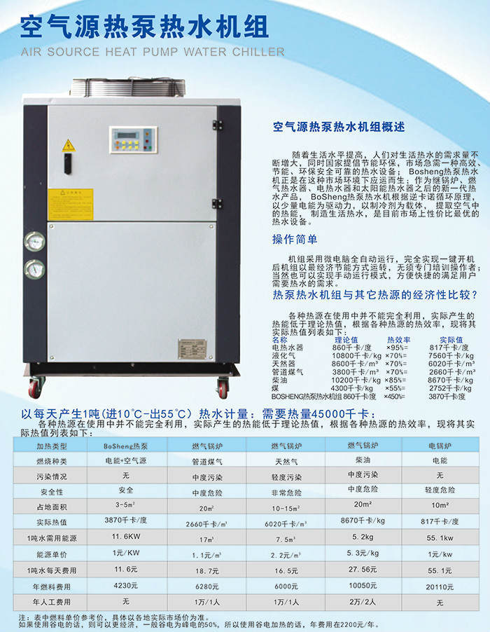 空气源热泵热水机组介绍